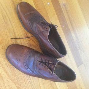 J.M. Weston Oxford Brogue Brown Golf shoe